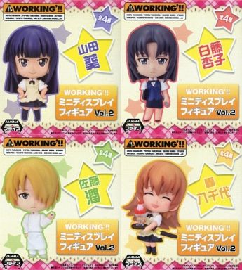 【中古】フィギュア 全4種セット 「WORKING'!!」 ミニディスプレイフィギュア Vol.2