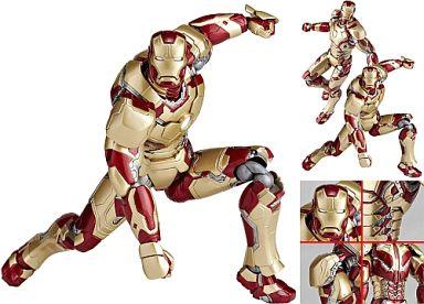 【中古】フィギュア 特撮リボルテック No.049 アイアンマン マーク42 「アイアンマン3」