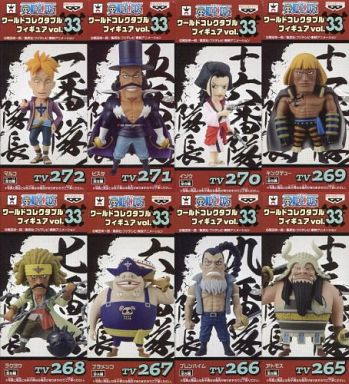 全8種セット 「ワンピース」 ワールドコレクタブルフィギュア vol.33