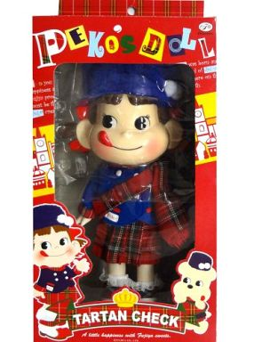 【中古】フィギュア ペコちゃん人形 2008 Peko's Doll タータンチェック セブンイレブン限定