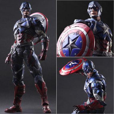 【中古】フィギュア MARVEL UNIVERSE VARIANT PLAY ARTS改 キャプテン・アメリカ 「キャプテン・アメリカ」 PVC製塗装済み完成品