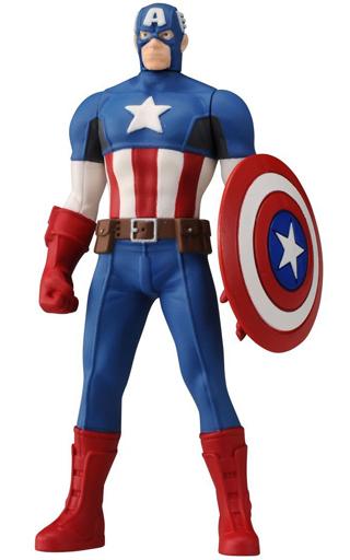 【中古】フィギュア キャプテン・アメリカ 「キャプテン・アメリカ/シビル・ウォー」 メタコレ マーベル ダイキャスト製塗装済み完成品