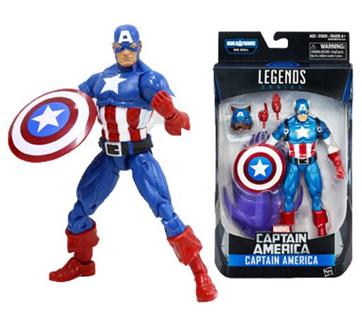 【中古】フィギュア キャプテン・アメリカ 「キャプテン・アメリカ」 シリーズ1.0 ハズブロアクションフィギュア 6インチ レジェンド