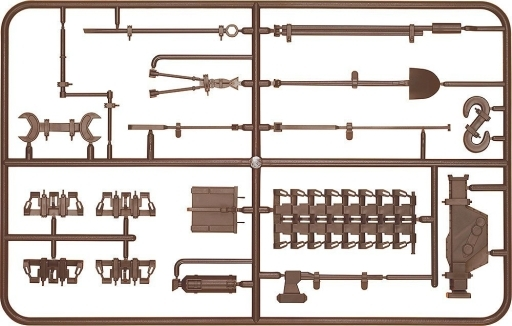 V号戦車 車外装備品セット(茶)