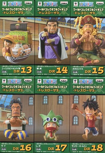 全6種セット 「ワンピース」 ワールドコレクタブルフィギュア -ドレスローザ3-