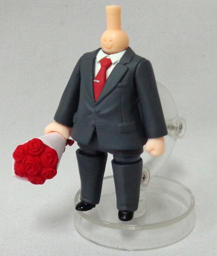 【中古】フィギュア 【シークレット】スーツ(ネクタイ:赤) 「ねんどろいどもあ きせかえスーツ」