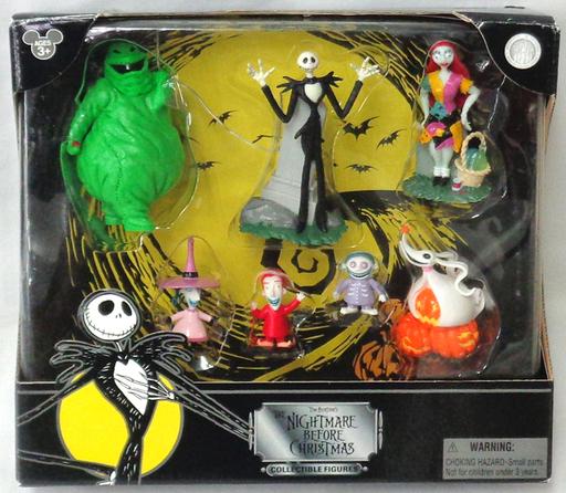 【中古】フィギュア 7体セット 「ナイトメアー・ビフォア・クリスマス」 コレクティブルフィギュア USディズニー限定