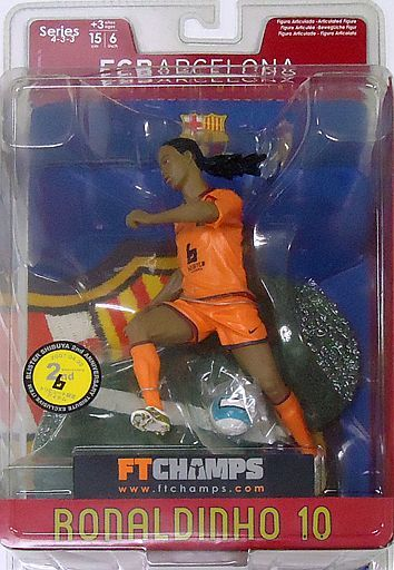 【中古】フィギュア RONALDINHO 2006-2007 Season / Blister Version -ロナウジーニョ- 「FT CHAMPS」 6インチ フィギュア Blister Shibuya 2nd Anniversary Tribute&Blister World Characters Store 限定