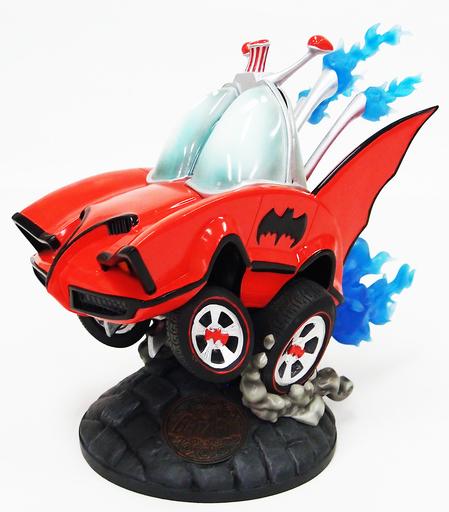 【中古】フィギュア [ランクB] バットモービル(昭和カラー/レッド版/バットマン 1966年TVシリーズ) 「バットマン」 ホットロッド・カスタム スタチュー バットマン100%ホットトイズ限定