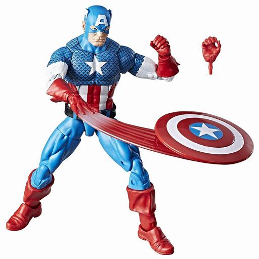 【中古】フィギュア #02 キャプテン・アメリカ 「キャプテン・アメリカ」 ハズブロ アクションフィギュア 6インチ スーパーヒーローズ・ヴィンテージ