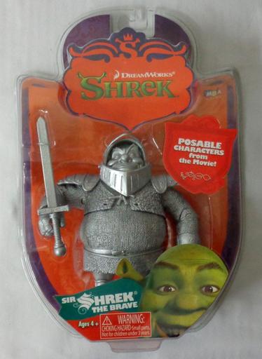 【中古】フィギュア SIR SHREK THE BRAVE-サー シュレック ザ ブレイブ-(シルバー) 「シュレック」 アクションフィギュア