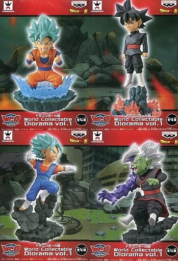 【中古】フィギュア 全4種セット 「ドラゴンボール超」 ワールドコレクタブルジオラマ vol.1