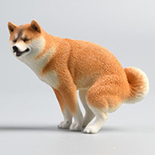 JXKスタジオ 新品 フィギュア 柴犬 ハーフスクワットC 1/6 塗装済み完成品