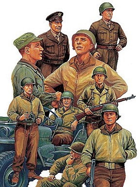 【中古】プラモデル 1/48 WWIIアメリカ歩兵前線休息セット 「ミリタリーミニチュア」