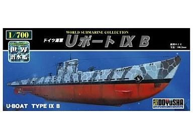 【新品】プラモデル 1/700 ドイツ海軍 Uボート IXB 「世界の潜水艦 No06」