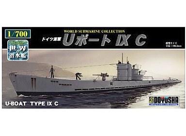 【新品】プラモデル 1/700 ドイツ海軍 Uボート IXC 「世界の潜水艦 No07」