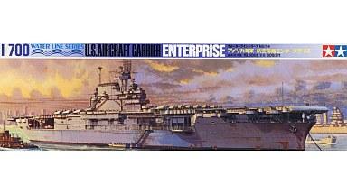 【中古】プラモデル 1/700 アメリカ海軍 航空母艦エンタープライズ 「ウォーターラインシリーズ No.114」 ディスプレイモデル [77514]