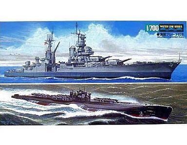 【中古】プラモデル 1/700 日本潜水艦 伊-58後期型&アメリカ海軍重巡洋艦 インディアナポリス [25119]