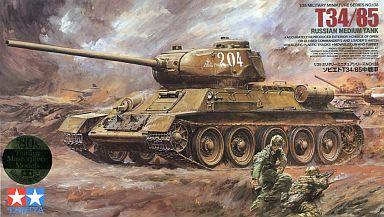 【中古】プラモデル 1/35 ソビエト T34/85 中戦車 「ミリタリーミニチュアシリーズ」 [35138]