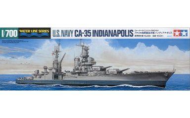 【新品】プラモデル 1/700 アメリカ海軍 重巡洋艦 インディアナポリス 「ウォーターラインシリーズ No.804」 [31804]