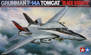 """【中古】プラモデル 1/32 グラマン F-14A トムキャット """"ブラックナイツ"""" 「エアークラフトシリーズ No.13」 ディスプレイモデル [60313]"""