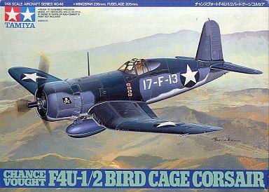 【中古】プラモデル 1/48 チャンスヴォート F4U-1/2 バードケージ コルセア 「傑作機シリーズNo.46」 [61046]