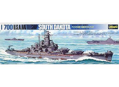 【中古】プラモデル 1/700 アメリカ海軍 戦艦サウスダコタ 「ウォーターラインシリーズ No.119」 [WL-B119]
