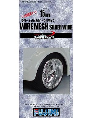 """1/24 15 inch F / R wire mesh Silver wide type """"THE ★ Wheel series No.19"""" [192888]"""
