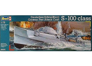 【中古】プラモデル 1/72 ドイツ海軍 魚雷艇 S100 [05051]