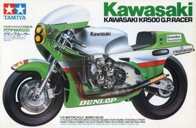 【中古】プラモデル 1/12 カワサキKR500 グランプリレーサー 「オートバイシリーズ No.28」 ディスプレイモデル [14028]