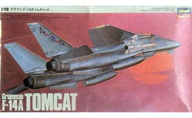 【中古】プラモデル 1/72 グラマン F-14A トムキャット [K12]