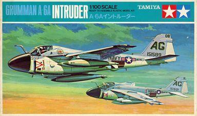 【中古】プラモデル 1/100 グラマン A-6A イントルーダー 「ミニジェット機シリーズ No.12」 [PA1012]