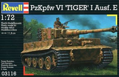 【新品】プラモデル 1/72 VI号戦車 タイガーI 後期型 [03116]