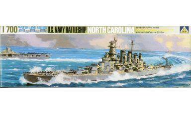 【中古】プラモデル 1/700 アメリカ海軍 戦艦ノースカロライナ 「ウォーターラインシリーズ No.105」 [WL.B105]