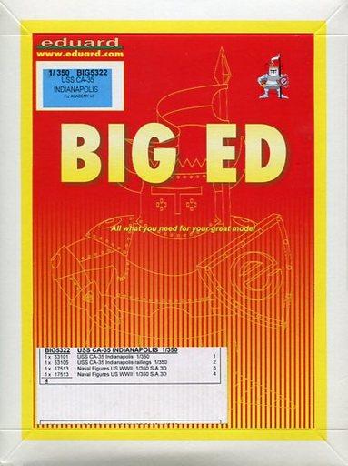 【中古】プラモデル 1/350 USS CA-35 重巡 インディアナポリス用パーツセット(アカデミー用) エッチングパーツ 「BIG EDシリーズ」 [EDUBIG5322]