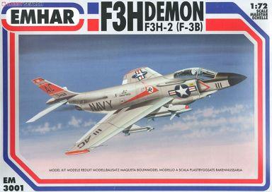 【新品】プラモデル 1/72 F3H デーモン 米海軍 ジェット戦闘機 [EM3001]