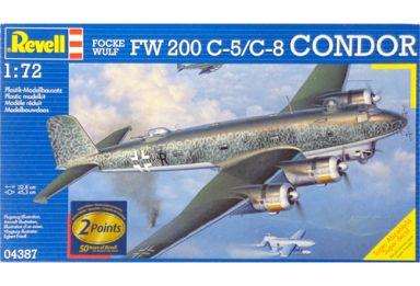 【中古】プラモデル 1/72 Focke Wulf FW 200 C-5/C-8 CONDOR -フォッケウルフ Fw200C-8 コンドル- [04387]