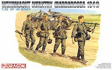 【新品】プラモデル 1/35 WW.II ドイツ国防軍兵士 行軍バルバロッサ 1941 [DR6105]