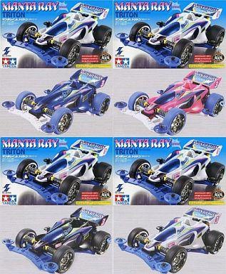 【中古】プラモデル 全4種セット 1/32マンタレイJr. トリトン 「レーサーミニ四駆シリーズ」