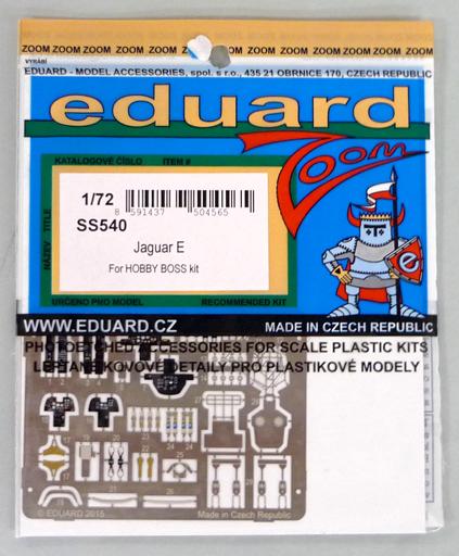 【新品】プラモデル 1/72 ジャガー E エッチングパーツセット ホビーボス用 「ズームシリーズ」 [EDUSS540]