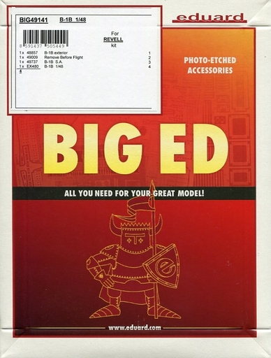 【新品】プラモデル 1/48 B-1B エッチングパーツセット レベル用 「BIG EDシリーズ」 [EDUBIG49141]