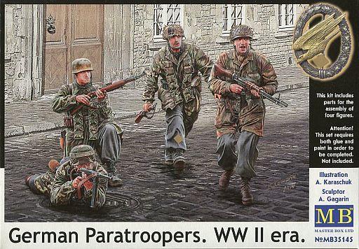 【新品】プラモデル 1/35 独・降下猟兵4体WW-II迷彩服 [MB35145]