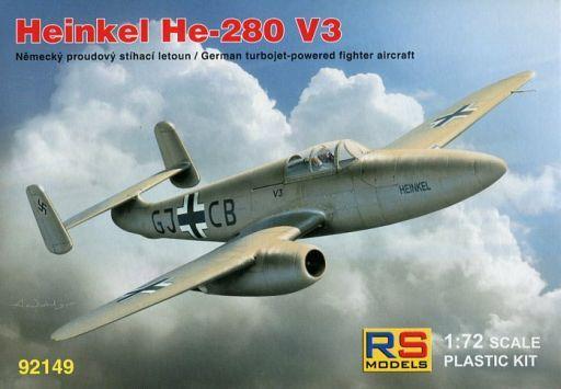 【新品】プラモデル 1/72 ハインケル He-280 V3 W/ HeS エンジン [92149]