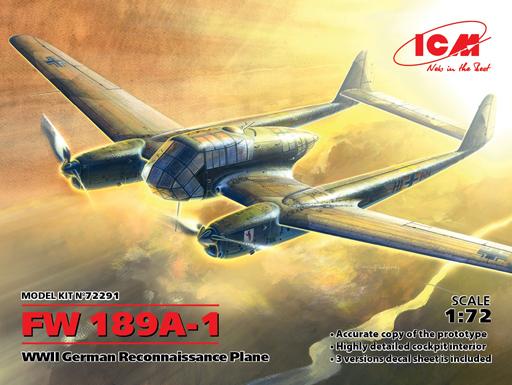 【新品】プラモデル 1/72 フォッケウルフ FW189A-1 [72291]
