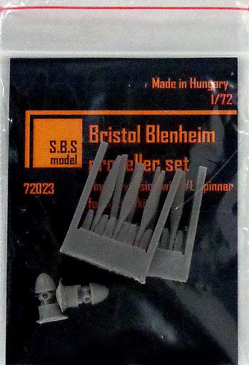 Finnish version with VL spinner 1//72. SBS 72023 Bristol Blenheim Propeller Set