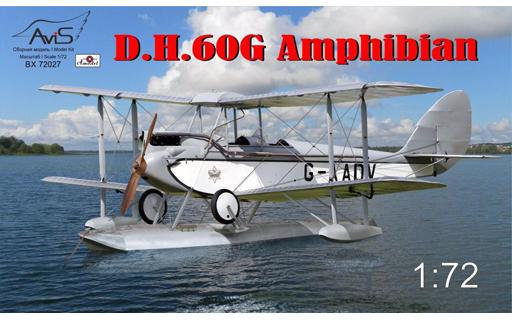 投げ売り堂 - 1/72 デハビランド DH.60Gジプシーモス水陸両用機 [AV7227]_00