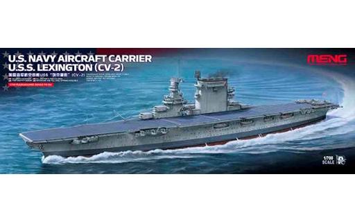 【新品】プラモデル 1/700 アメリカ海軍航空母艦 レキシントン CV-2 [MENPS-002]