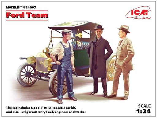 投げ売り堂 - 1/24 T型フォード 1913 ロードスター w/フィギュア [24007]_00