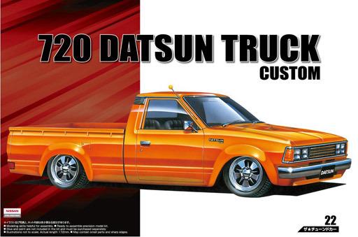 【新品】プラモデル 1/24 720 ダットサン トラック カスタム `82 「ザ・チューンドカーシリーズ No.22」 [53355]