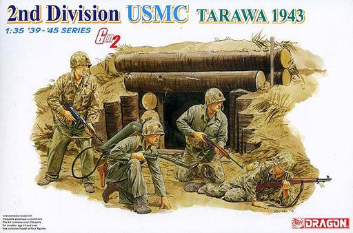【新品】プラモデル 1/35 WW.II アメリカ海兵隊 第2師団 タラワ1943 [DR6272]